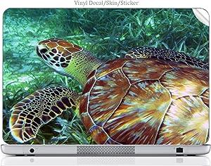 Laptop VINYL DECAL Sticker Skin Print Sea Turtle Swimming in the Ocean fits MacBook Air 13.3 (2010/2013)