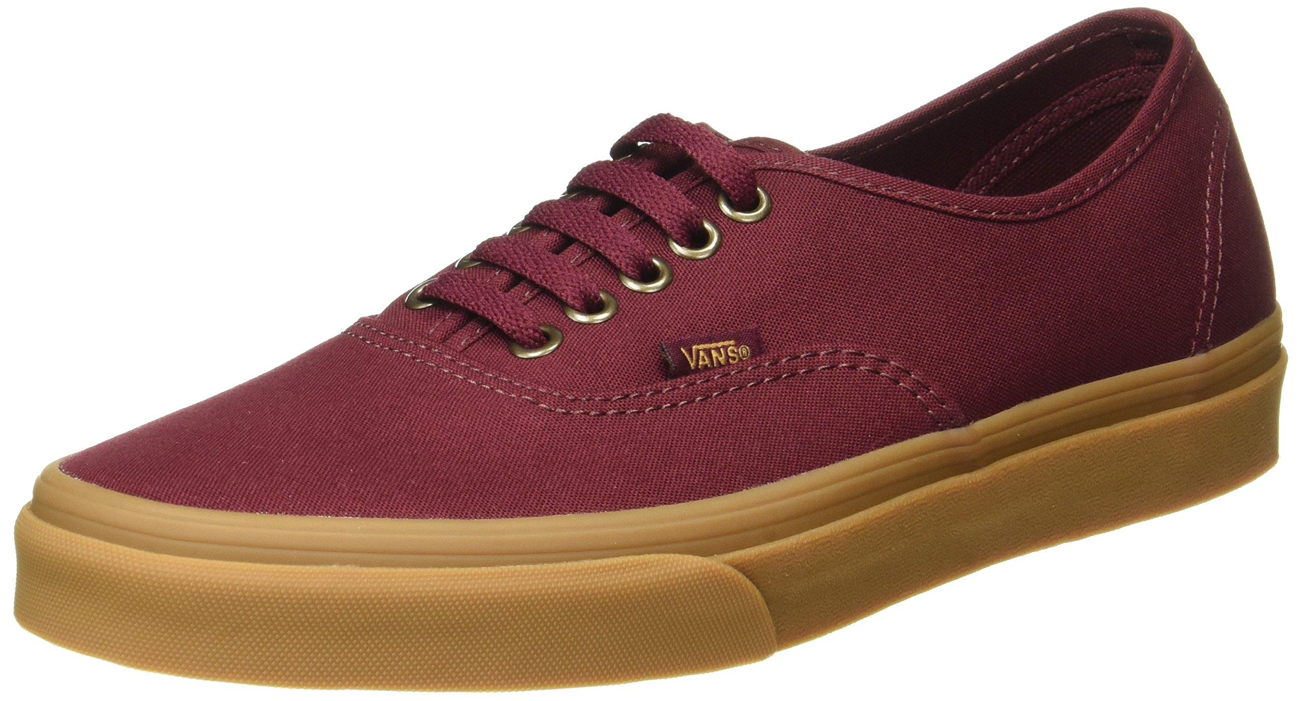 Vans Men Authentic - Light Gum burgundy port royale gum Size 12.0 US