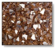 Fireglass Fireplace Fire Pit Glass 1/4 Copper Reflective 10 LBS