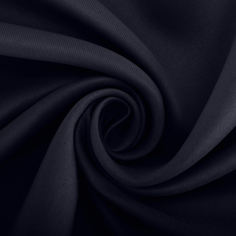 Sun Zero Soho 2-Pack Energy Efficient Blackout Grommet Curtain Panel Pair 54 x 63 Black