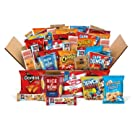 College Dorm Snacks Care Package, Variety Box of Chips, Crackers, Cookies, Pasta Cups, and More, 40 Count Mix