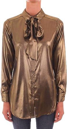 Twin Set TA82HB Camisa para Mujer Dorado 34: Amazon.es: Ropa ...