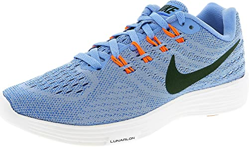 e04e91bf4a0e NIKE Women s Lunartempo 2 Running Shoe chalk Blue Black-Racer Blue-Hyper  Orange