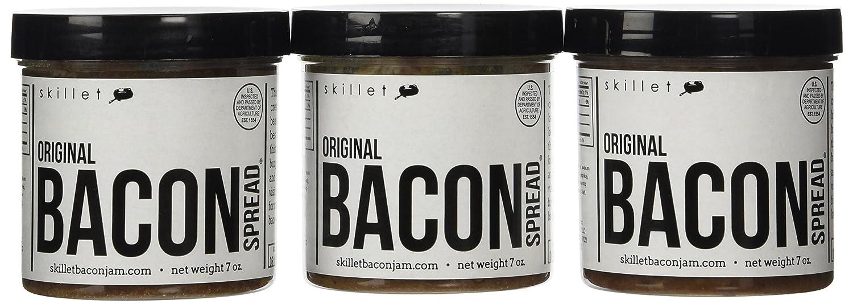 Skillet Bacon Jam Bacon Spread 7 0z  - 3 Jar Pack