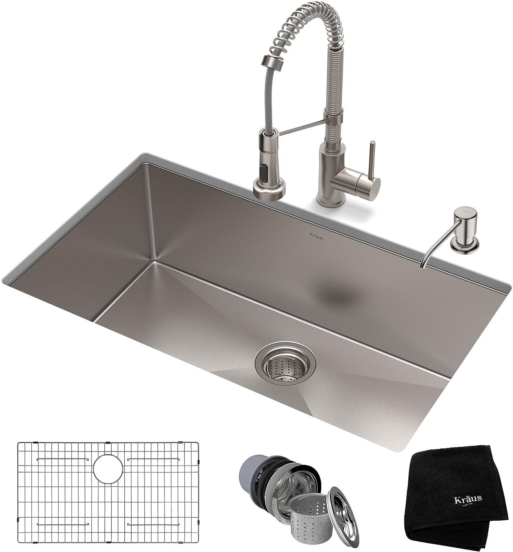 """Kraus 32"""" Undermount Kitchen Sink"""