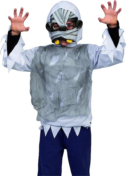 House of Fun 12917 – Disfraz de terror con máscara momia para niño ...