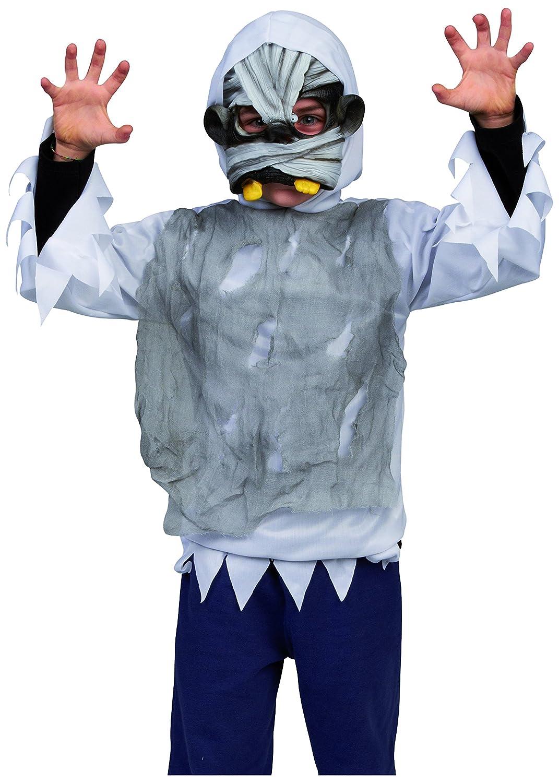 House of Fun 12917 - Disfraz de terror con máscara momia para niño ...