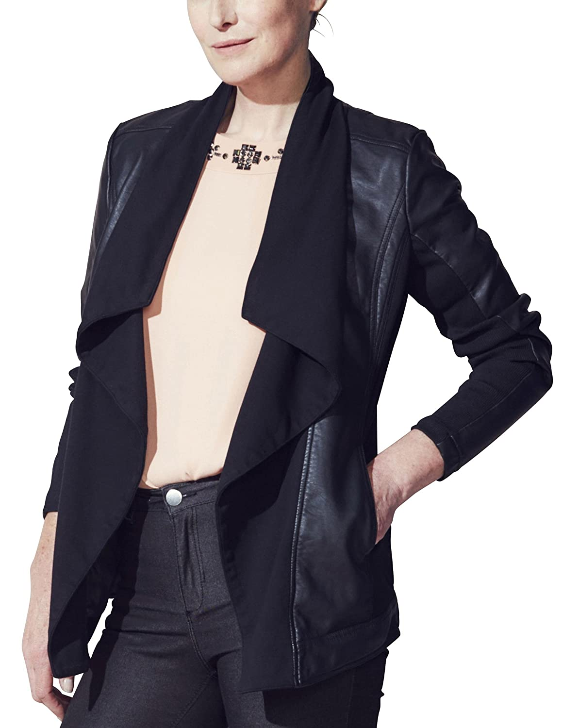 JD Williams - Chaqueta - para mujer negro negro 28: Amazon ...