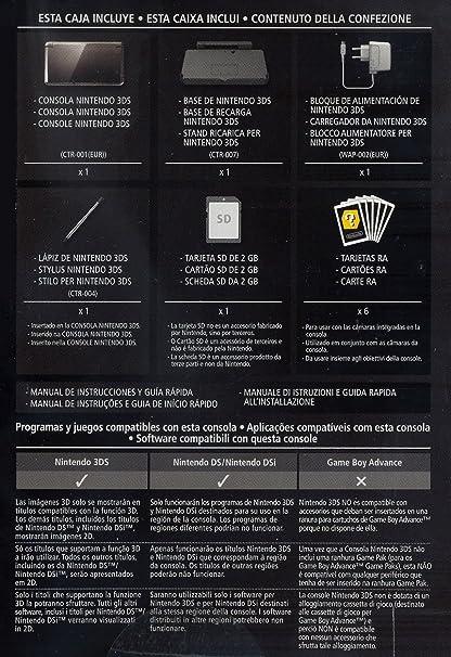 Amazon.com: NINTENDO 2200049 CONSOLE 3DS 2GB COSMO NERO ...