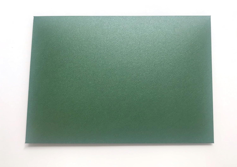 Lot de 20 enveloppes en carton nacr/é brillant noces d/'or Vert Format C6 162 x 114 mm Pour invitation de mariage anniversaire