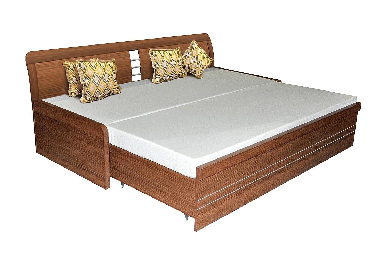 Spacewood Urbano Single Seat Sofa Cum Bed American Walnut Amazon
