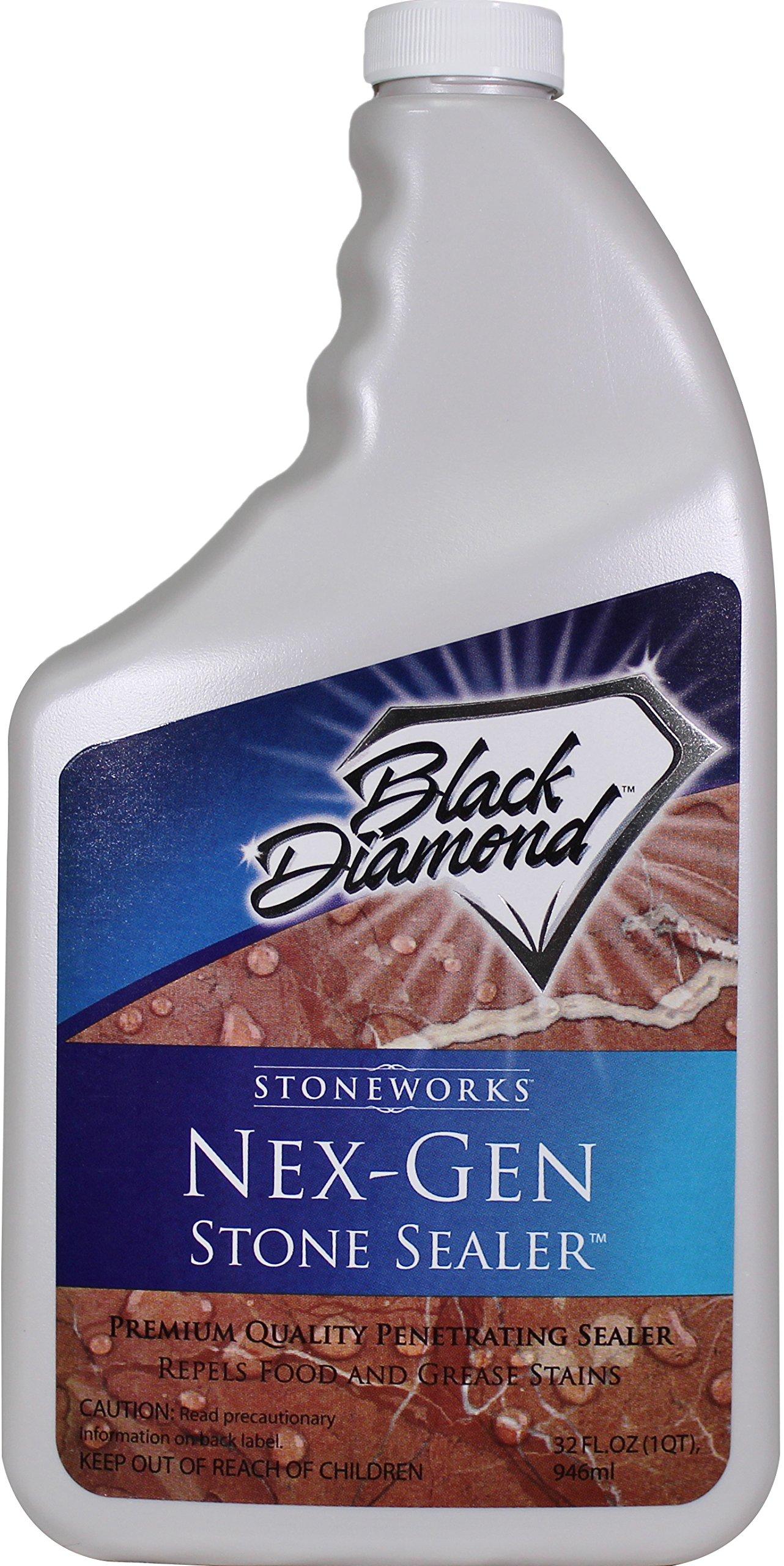 Black Diamond 679773002117 Nex-Gen Stone Sealer Penetrating Sealer, Seals and Protects, Granite, Marble, Travertine, Limestone, Grout, Tile, Brick and Slate,32-Ounce