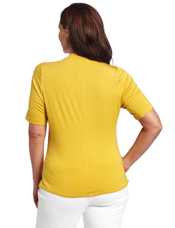 Karen Kane Womens Plus-Size Ruffle Top