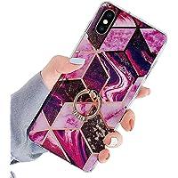 Herbests Etui kompatybilne z iPhone XS/iPhone X, etui na telefon komórkowy, błyszczące, błyszczące, marmurowe wzory…