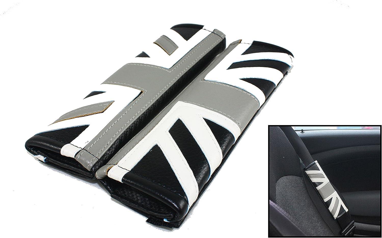 2Pcs Red High Quality Car Seat Belt Shoulder Cover Pad Fit For Mini Cooper Car