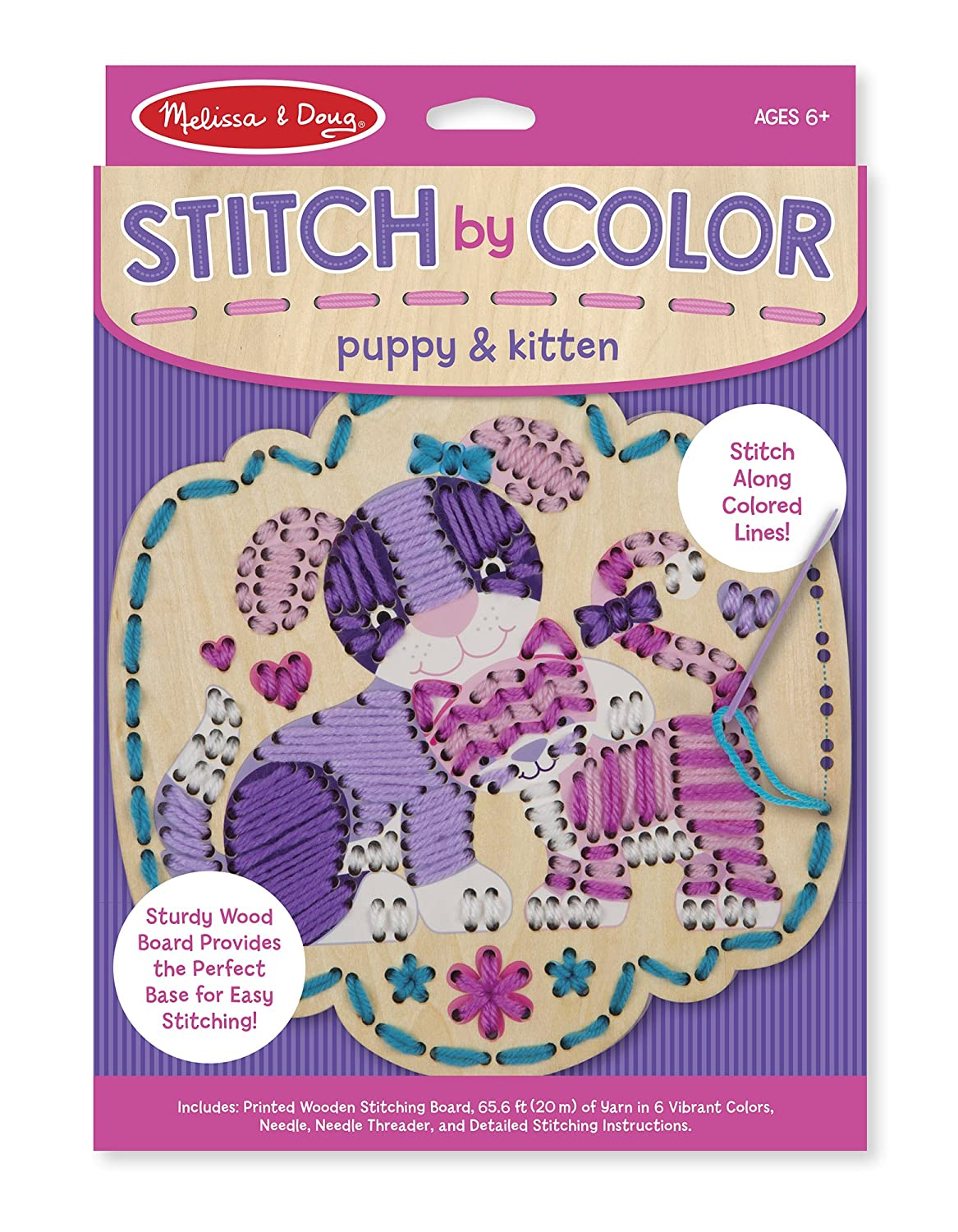 Amazon Melissa Doug Stitch By Color Puppy Kitten Toy Toys