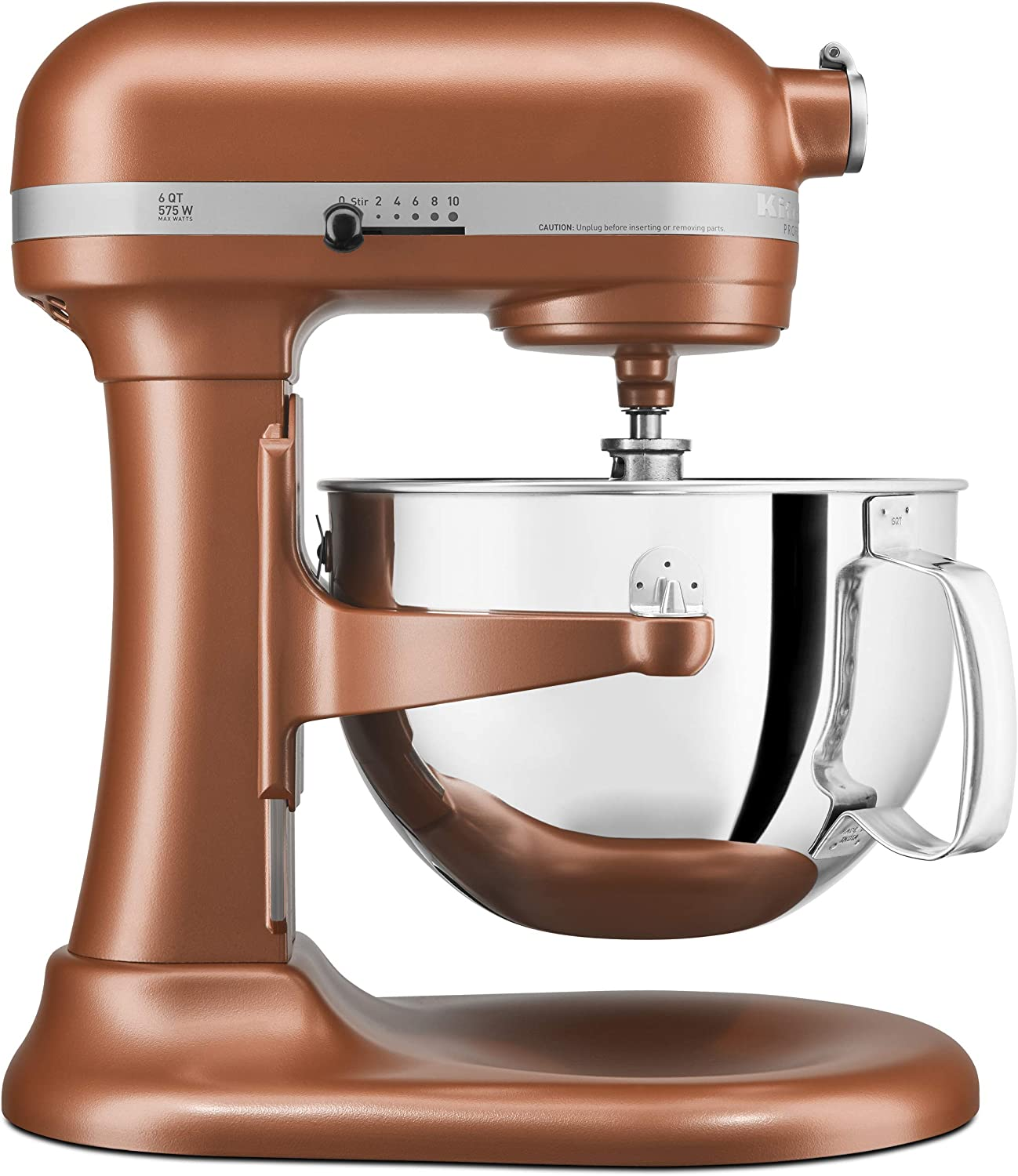 Amazon Com Kitchenaid Kp26m1xce 6 Qt Professional 600 Series Bowl Lift Stand Mixer Copper Pearl Electric Stand Mixers Kitchen Dining