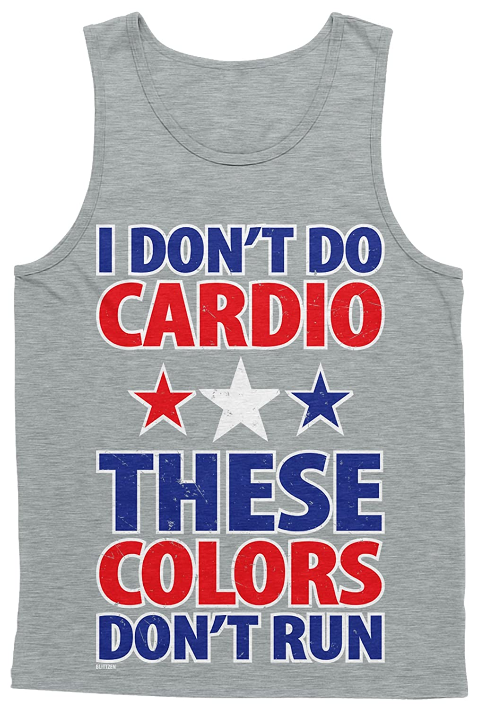 Blittzen Mens Tank Top Dont Do Cardio These Colors Dont Run