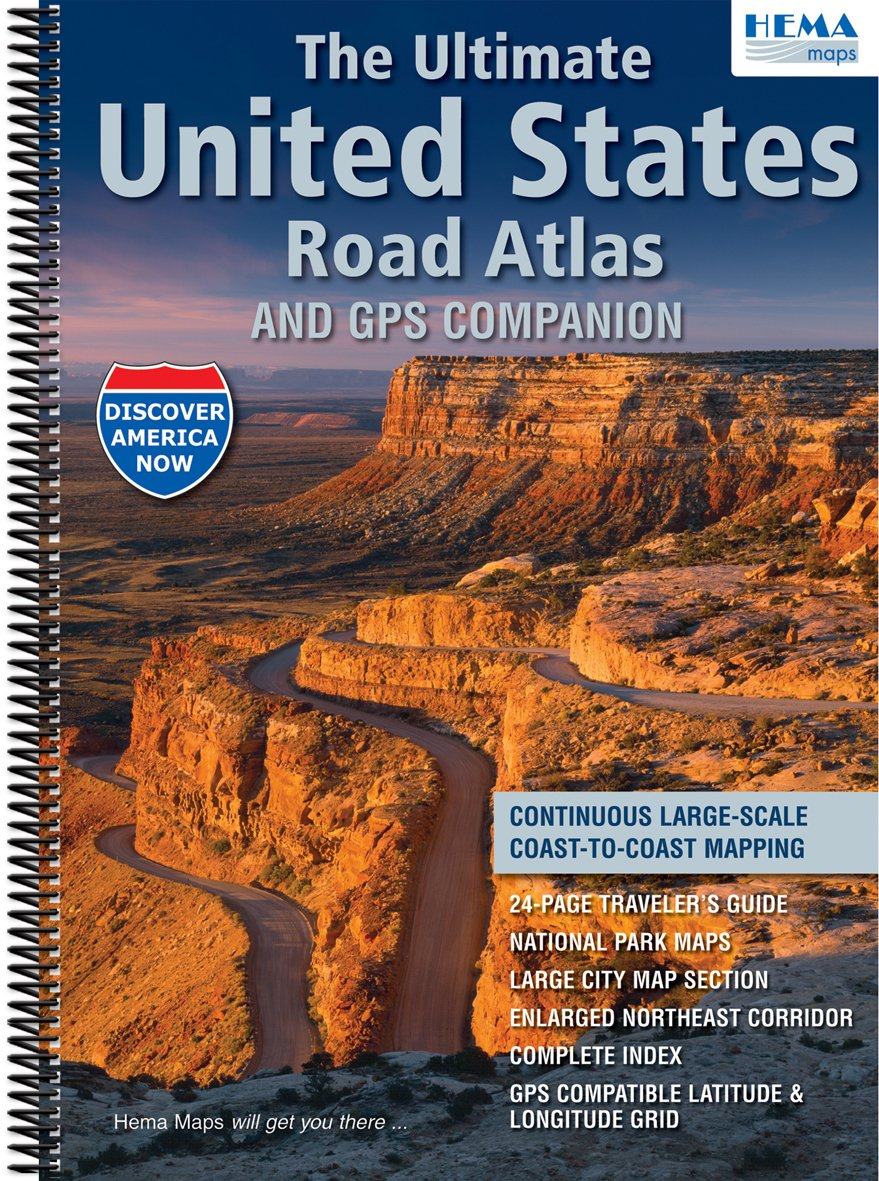 HEMA United States Road Atlas Hema Amazoncom Books - Us road atlas map