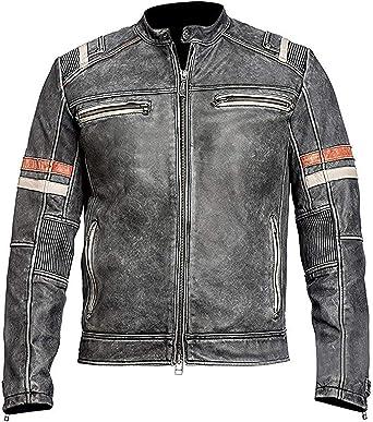 SRHides Mens Hunger Biker Games Cowhide Jacket