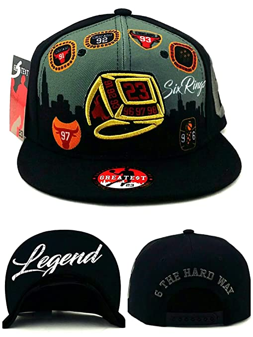 Greatest 23 Chicago New Jordan Bulls - Gorra con 6 Anillos, Color ...