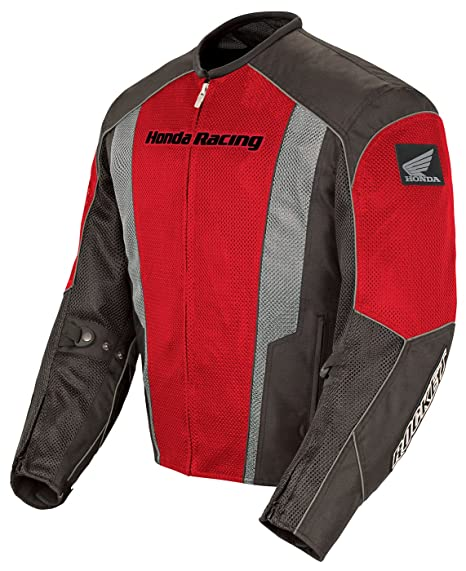 Joe Rocket Honda CBR Hombres Chaqueta De Moto De La Calle De Malla Racing – rojo