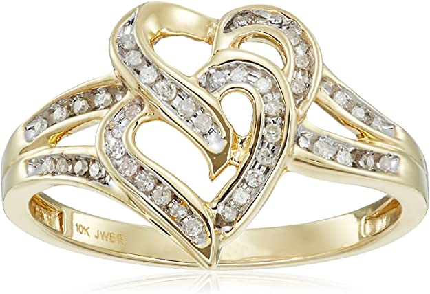 Yellow Gold 10k Band Hearts and X\u2019s Vintage