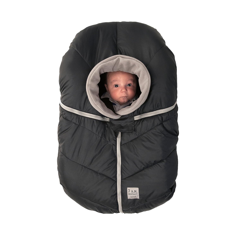 7AM Enfant Car Seat Cocoon: Infant Car Seat Cover Micro-Fleece Lined with an Elasticized Base, Black 7 A.M. Enfant CSC-BK