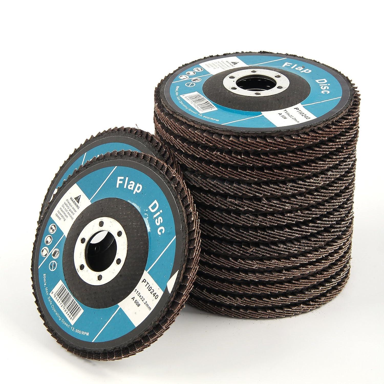 DHOUTDOORS 15PCS Flap Discs 115mm Sanding Discs 4.5' 40 60 80 Grit Grinding Wheels