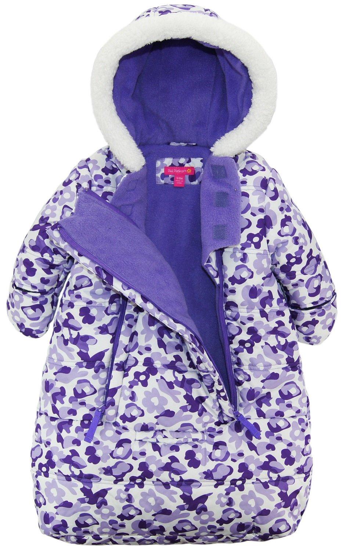 Pink Platinum Baby Girls Snowsuit Carbag Floral Camo Winter Puffer Bunting Pram, Purple, 3-6 Months by Pink Platinum (Image #2)