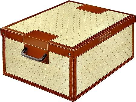 Kanguru Caja de Almacenamiento en cartòn Lavatelli, Modelo Lirio, Grande, 50x40x25cm, 50 x 40 x 25 cm: Amazon.es: Hogar