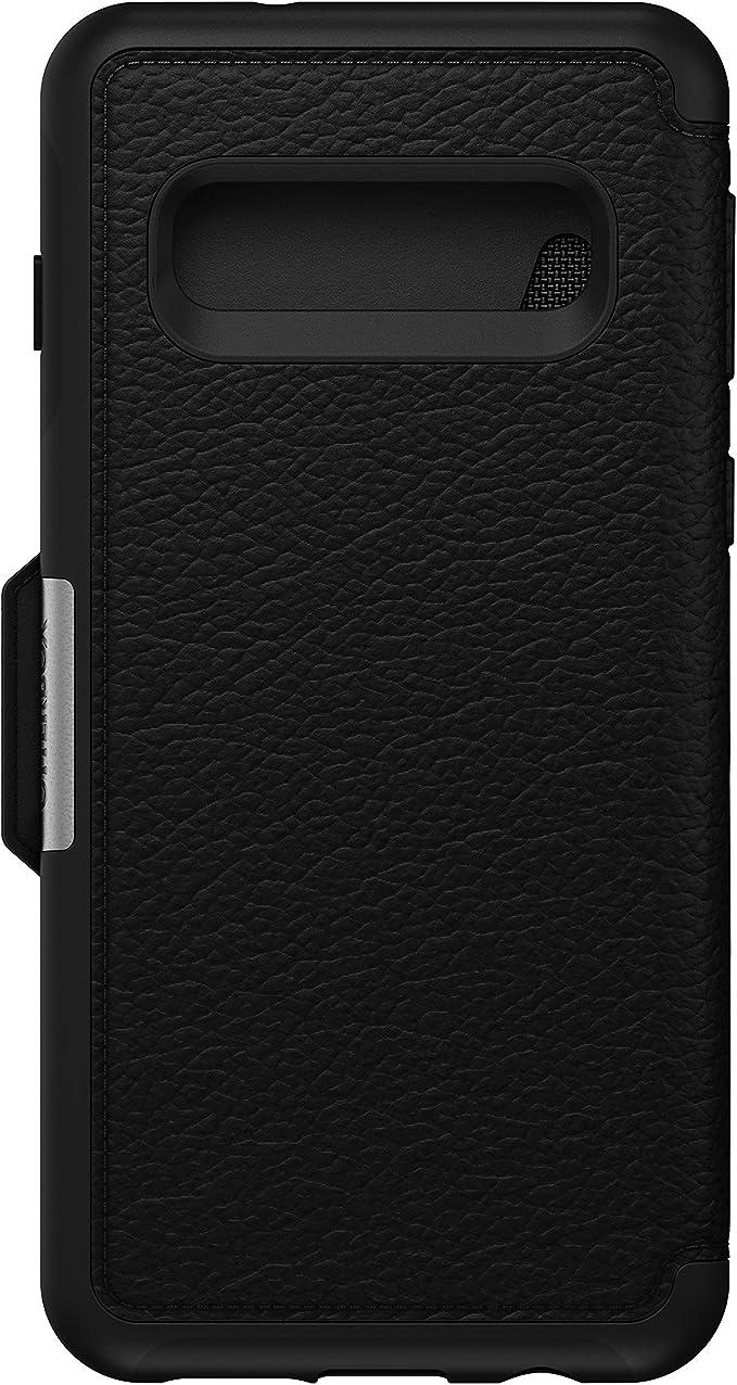 Otterbox Strada Etui Elegante Sturzsichere Folio Schutzhülle Aus Echtem Leder Für Galaxy S10 Schwarz Elektronik