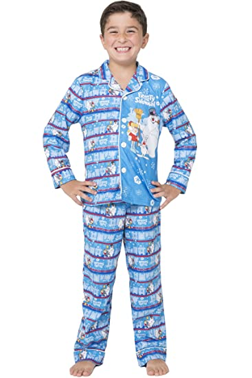 amazoncom frosty the snowman little boys frosty the snowman christmas pajama set clothing