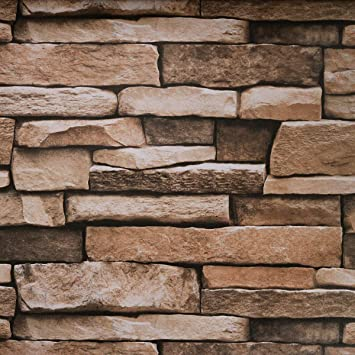 Large Peel and Stick Wallpaper Stone Self Adhesive Removable 3D Wall Decor Stone