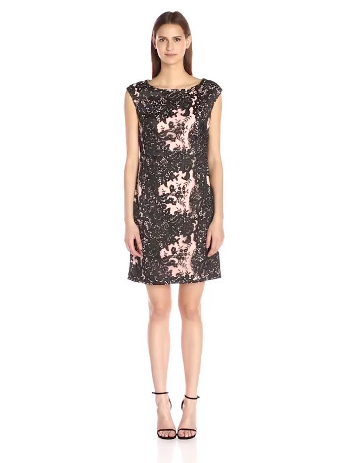Amazon.com: Vera Wang Women\'s Lace Dress: Clothing