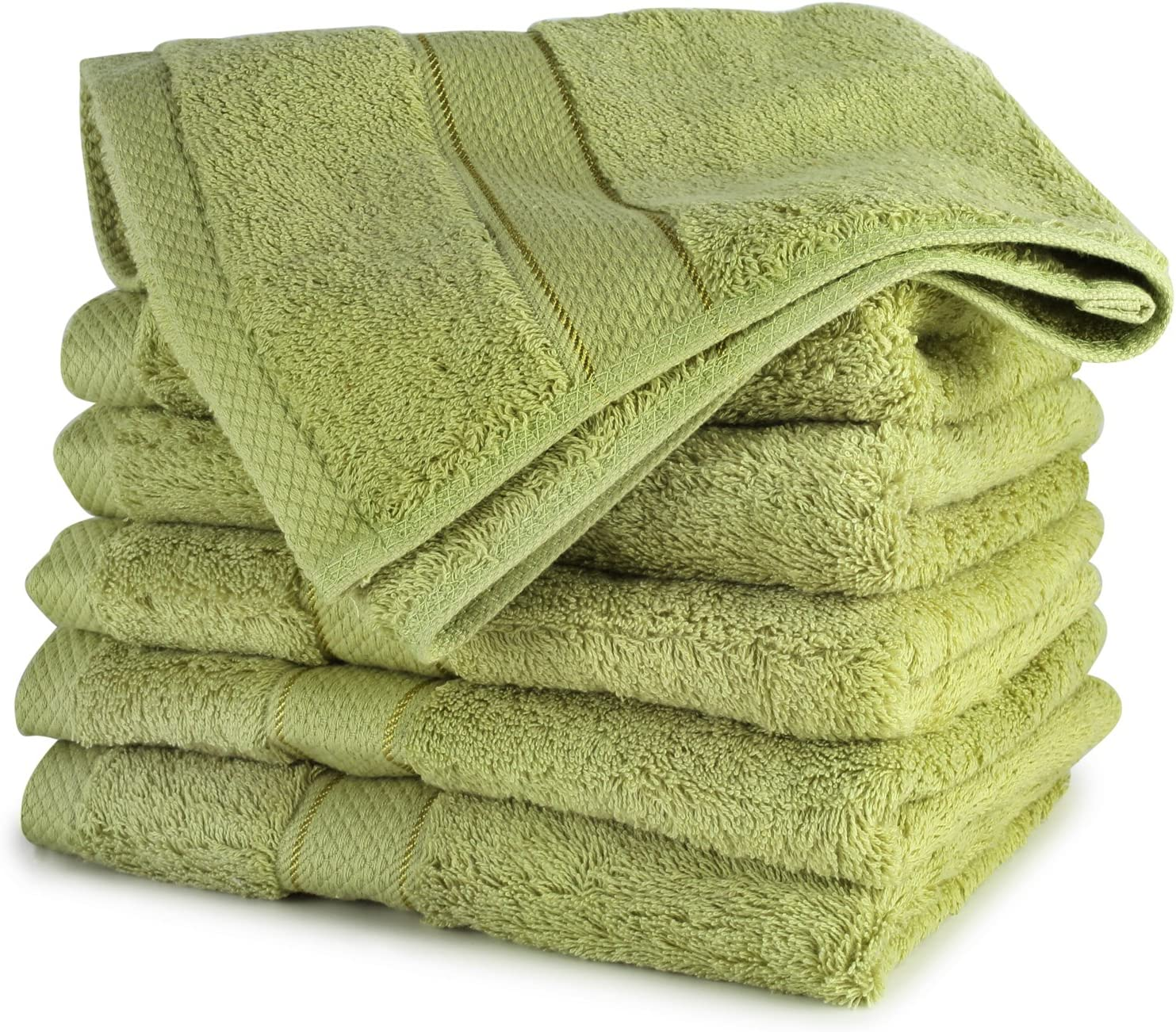 Cozy Homery Egyptian Cotton Wash Cloths for Bathroom | 13x13'' Ultra Soft Face - Body Washcloths for Kids & Adults | 650 GSM Hotel Spa Quality Wash Cloth Towel Set | 6-Pack