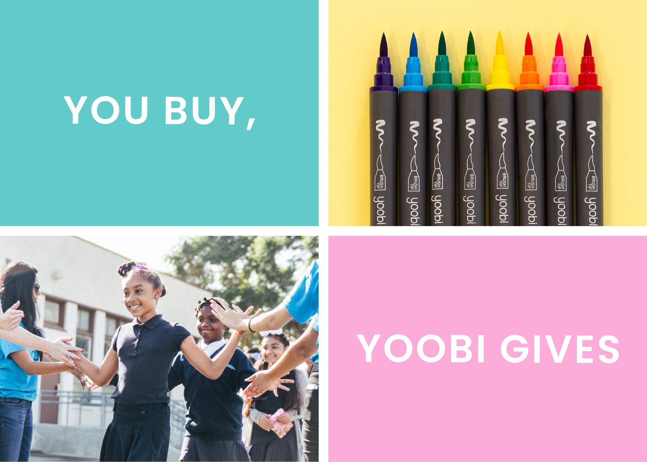 Yoobi Mini Gel Pens 24-Pack & Carrying Case   Neon, Metallic, Glitter Shades   Multicolor Ink   1.0mm Medium Tip   School, Home, Office Use by Yoobi