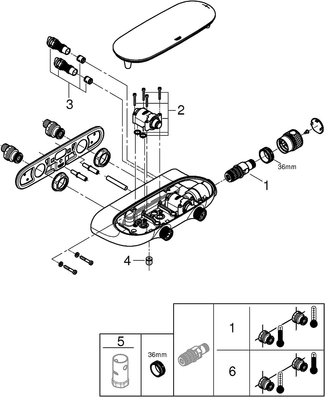 Grohe Grohtherm SmartControl Sistema de ducha termost/ático 2 V/álvulas Ref. 34713000 Termostato MONO