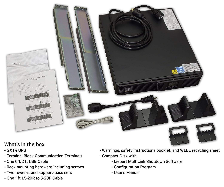 Vertiv Liebert GXT4, 2000VA/1800W, 120V On-line, Double-Conversion  Rack/Tower Smart UPS (GXT4-2000RT120)