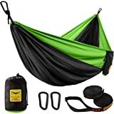 Puroma Camping Hammock Single & Double Portable Hammock Ultralight Nylon Parachute Hammocks with 2 Hanging Straps for Backpac