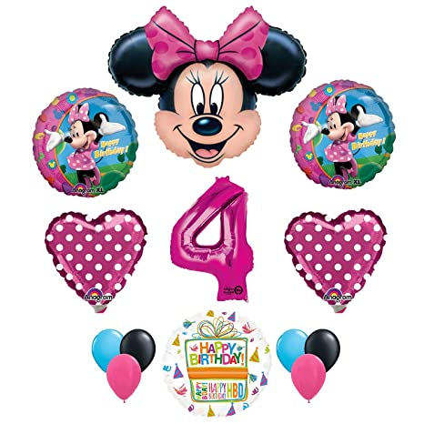 Image Unavailable Not Available For Color Minnie Mouse 4th Birthday Party Supplies