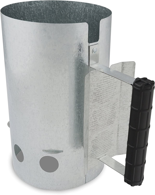 GrillPro 39470 Chimney Charcoal Starter, Silver : Bbq Chimney : Garden & Outdoor