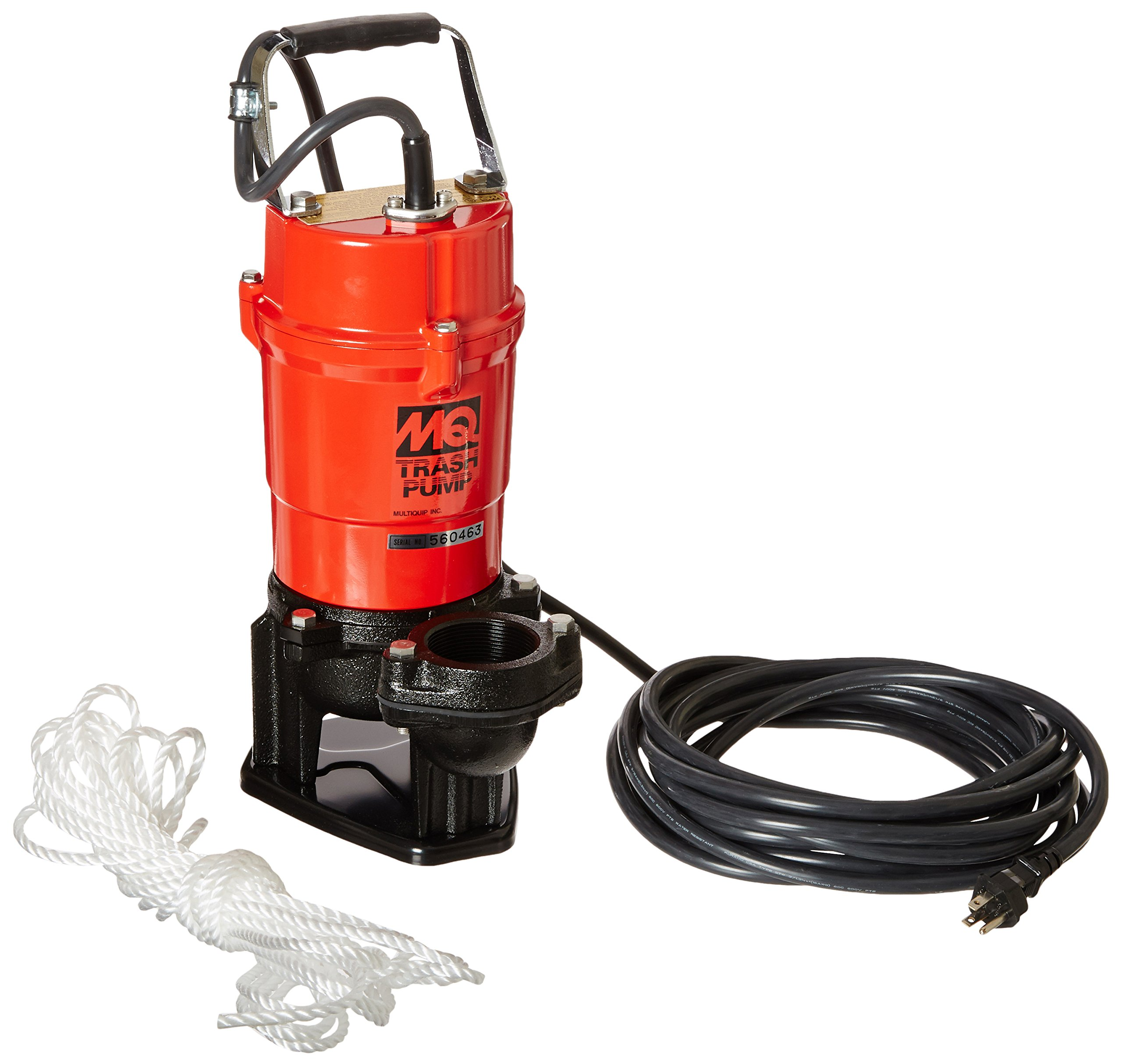 Multiquip ST2040T Electric Submersible Trash Pump with Single Phase Motor, 1 HP, 79 GPM, 2'' Suction & Discharge by Multiquip