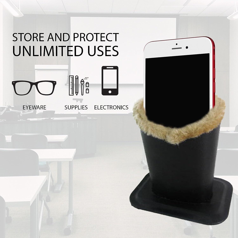 Fine tools 2 Pack Eyeglasses Holder Glasses Stand Case For Desks Or Nightstands