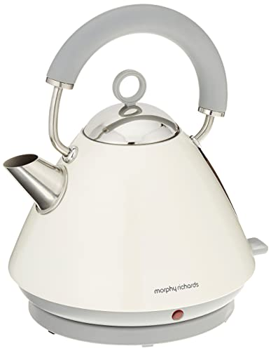 Morphy Richards Pyramid Kettle Accents 102031 Electric Kettle - off white