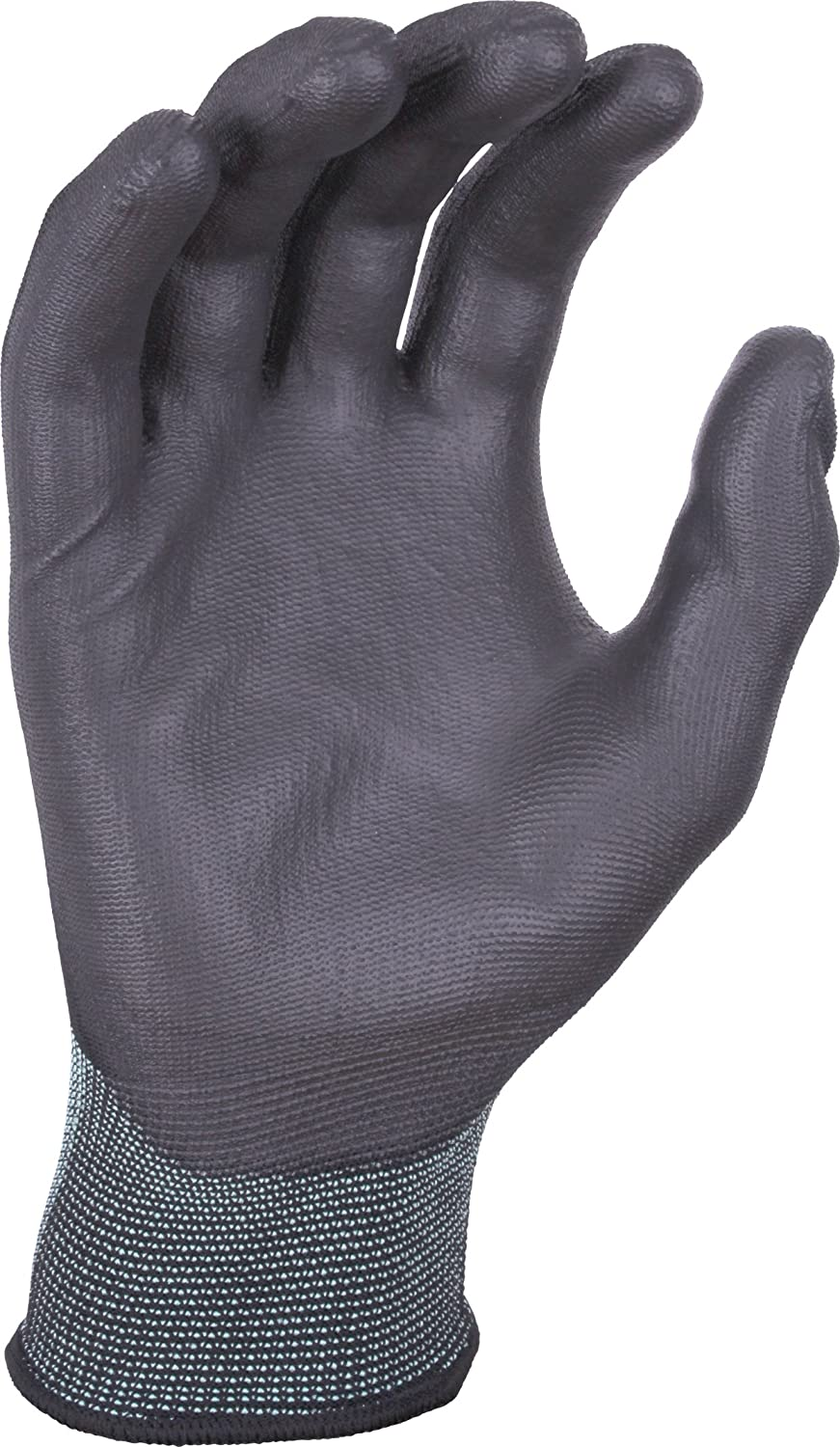 Multi Purpose Hand Protection UCI PU Palm Coated Precision Work Gloves 8//Medium, Black