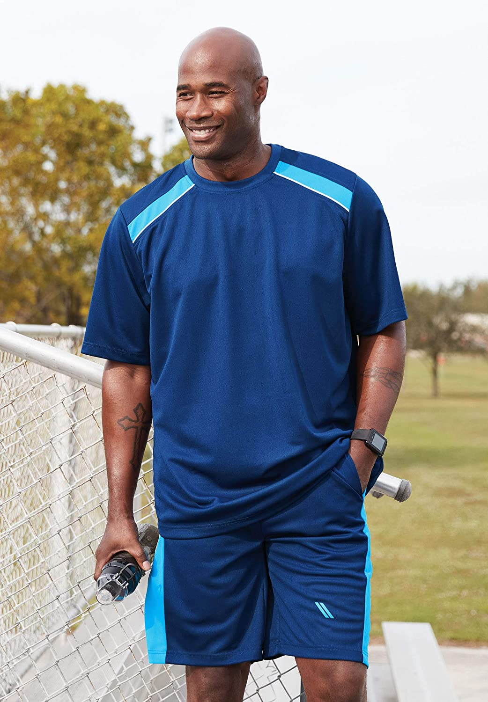 KS Sport by Kingsize Mens Big /& Tall Power Wicking Tee