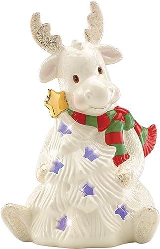 Lenox Moose Season Sparkle Lit Figurine