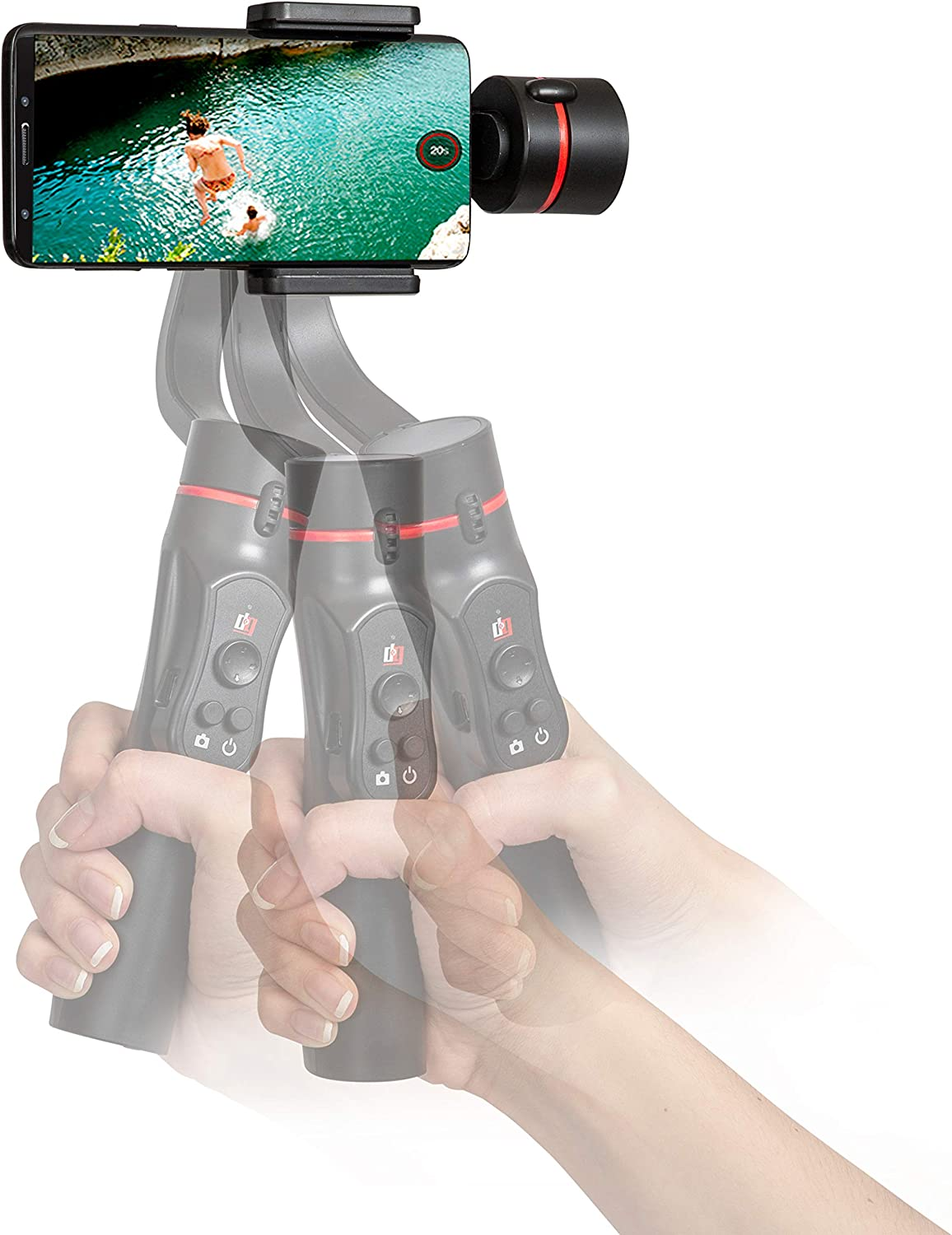 Deco Gear 3-Axis Handheld Cell Phone Gimbal Stabilizer iOS//Android Compatible GIM100BK