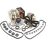 Evergreen TBK286VC 97-04 Honda Pilot Accord Acura TL CL MDX J32A J35A Timing Belt Kit Valve Cover Gasket GMB Water Pump